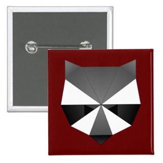 Mapache poligonal pin cuadrado