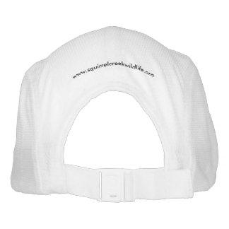 Mapache que lleva a cabo la muestra de la cala de gorra de alto rendimiento