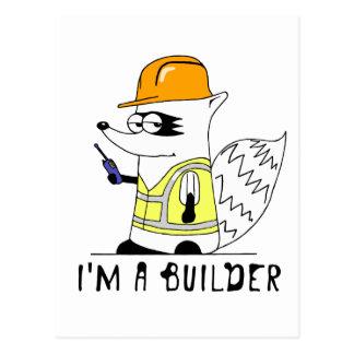 Mapache: Soy constructor Tarjeta Postal