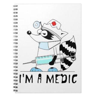 Mapache: Soy médico Libros De Apuntes Con Espiral