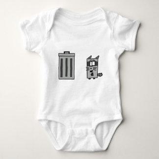 Mapache y Trashcan Mameluco De Bebé