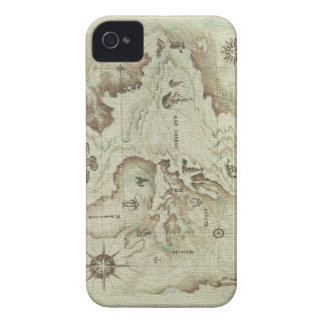 Mapamundi viejo Case-Mate iPhone 4 cobertura