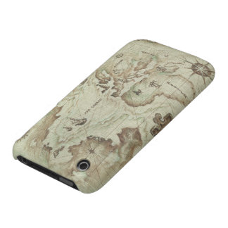 Mapamundi viejo iPhone 3 protector