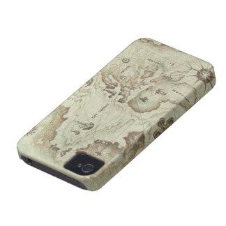 Mapamundi viejo iPhone 4 protector