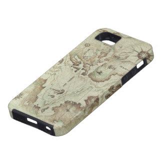 Mapamundi viejo iPhone 5 protector