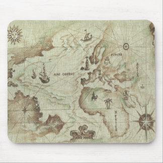 Mapamundi viejo Mousepad Tapetes De Ratón