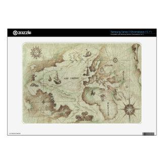 Mapamundi viejo samsung chromebook skins