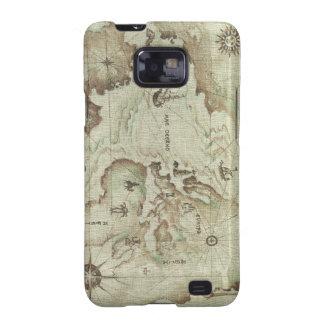 Mapamundi viejo Samsung Galaxy S2 Carcasa