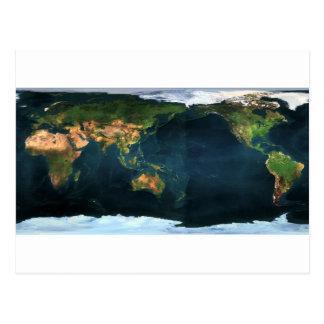 Mapamundi world map tarjeta postal