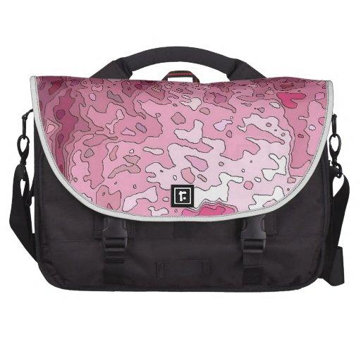 mapas abstractos, rosados bolsa de ordenador
