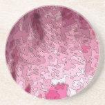 mapas abstractos, rosados posavasos para bebidas
