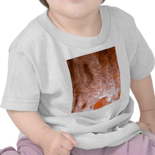 mapas abstractos, tierra camisetas