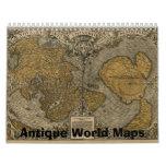 Mapas antiguos del calendario de mundo