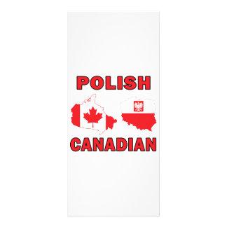 Mapas canadienses polacos tarjeta publicitaria a todo color