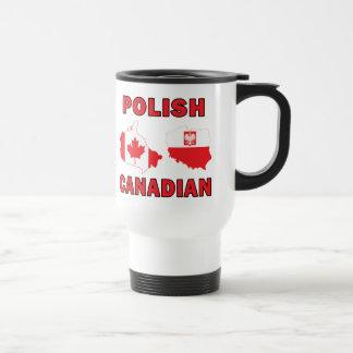 Mapas canadienses polacos taza térmica