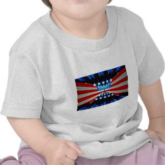 Mapas de la bandera de los E E U U de la perspect Camisetas