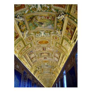 mapas de la galería de vatican postales