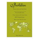 Mapas de la verde lima invitación 12,7 x 17,8 cm