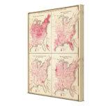 Mapas de la vitalidad de Estados Unidos Impresión En Lona