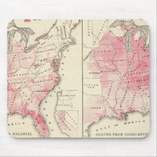 Mapas de la vitalidad de Estados Unidos Alfombrilla De Ratones