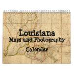 Mapas de Luisiana y calendario de la fotografía
