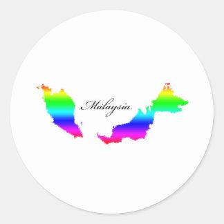 Mapas de Malasia Pegatina Redonda