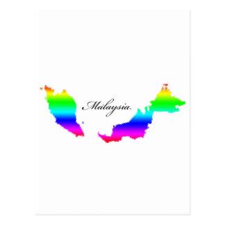Mapas de Malasia Postales