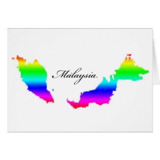 Mapas de Malasia Tarjeta De Felicitación