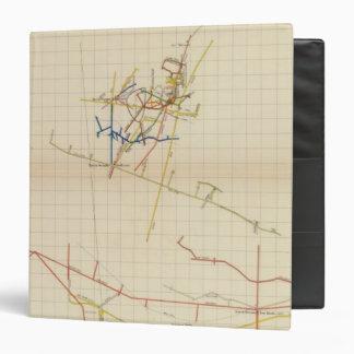 "Mapas de mina de Comstock número II Carpeta 1 1/2"""