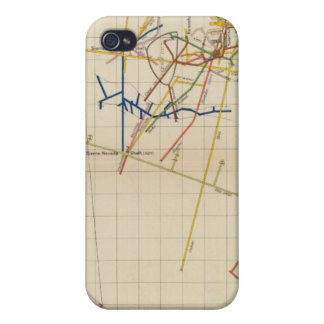 Mapas de mina de Comstock número II iPhone 4 Carcasa