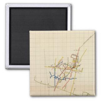 Mapas de mina de Comstock número II Imán Cuadrado
