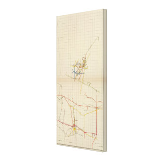 Mapas de mina de Comstock número II Lienzo Envuelto Para Galerias