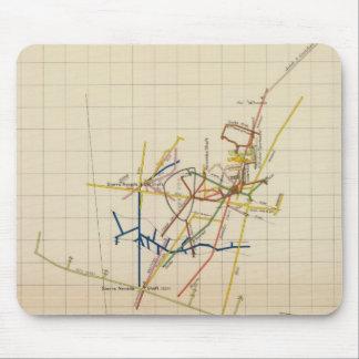 Mapas de mina de Comstock número II Mousepad