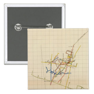 Mapas de mina de Comstock número II Pin Cuadrada 5 Cm