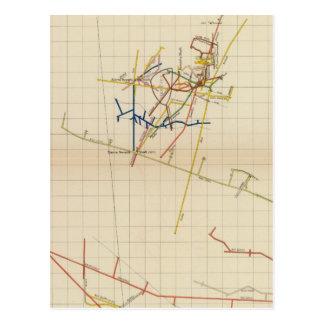 Mapas de mina de Comstock número II Postal