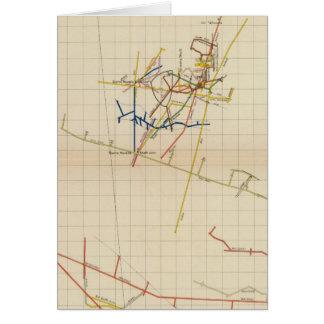 Mapas de mina de Comstock número II Tarjeta De Felicitación