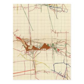 Mapas de mina de Comstock número III Tarjetas Postales