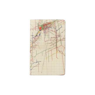 Mapas de mina de Comstock número IV Funda Para Libreta Y Libreta Pequeña Moleskine
