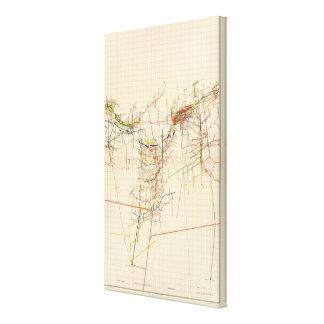 Mapas de mina de Comstock número IV Impresion De Lienzo