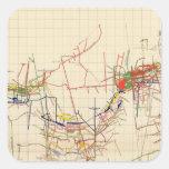 Mapas de mina de Comstock número IV Pegatina Cuadrada