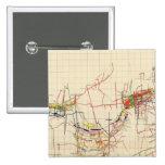 Mapas de mina de Comstock número IV Pin Cuadrado