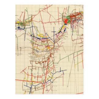 Mapas de mina de Comstock número IV Postal
