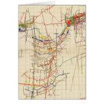 Mapas de mina de Comstock número IV Tarjeta De Felicitación
