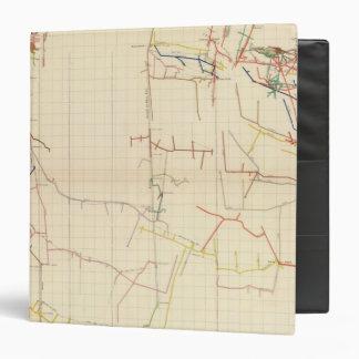"""Mapas de mina de Comstock número V Carpeta 1 1/2"""""""