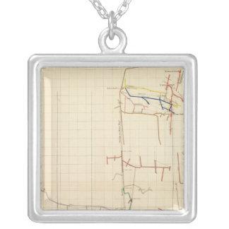 Mapas de mina de Comstock número V Colgante Cuadrado