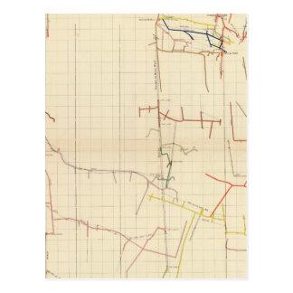 Mapas de mina de Comstock número V Postales