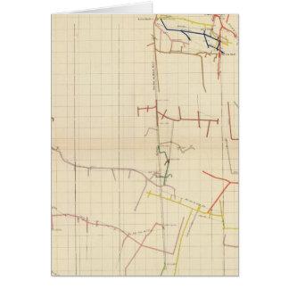 Mapas de mina de Comstock número V Tarjeta De Felicitación