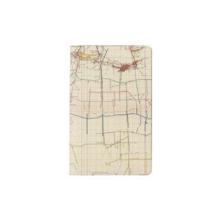 Mapas de mina de Comstock número VI Funda Para Libreta Y Libreta Pequeña Moleskine