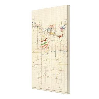 Mapas de mina de Comstock número VI Lona Estirada Galerías