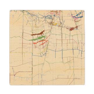 Mapas de mina de Comstock número VI